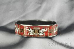Polychrome Enamel Bangle, Hermes