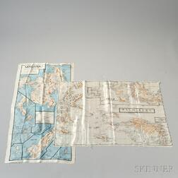 Two Royal Australian Air Force Silk Maps