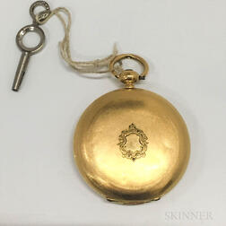 Swiss 18kt Gold Hunter-case Pocket Watch