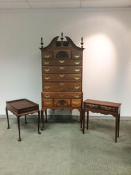 Three Pieces of Bartley Reproduction Colonial Furniture
