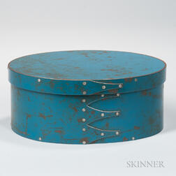 "Oval Blue-painted Steel ""Shaker"" Box"