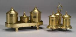 Two Brass Standishes