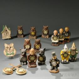 Eighteen Lux Figural Clocks