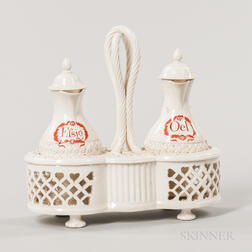 Creamware Cruet Set for the German Market