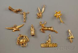 Group of Gold Charms