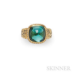 18kt Gold and Green Tourmaline Ring, Alex Sepkus