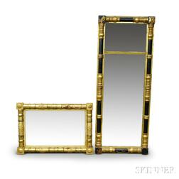 Two Classical Gilt Split-baluster Mirrors
