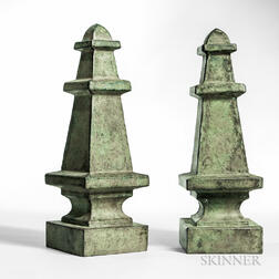 Pair of Sheet Copper Finials