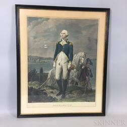 Framed Laugier Hand-colored Engraving of George Washington