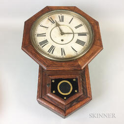 Waterbury Oak Eight-day Wall Clock