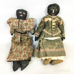 Two Black Cloth Dolls