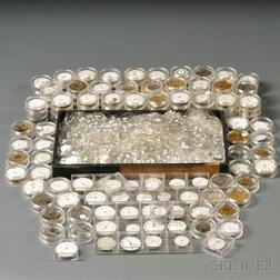 Collection of Approximately 140 Watch Movements, Dials, and Crystals