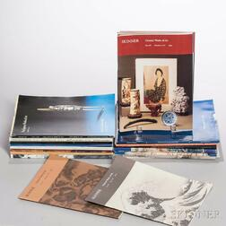Group of Asian Art Auction Catalogs Mostly from Christie's, Sotheby's, and Eldred's