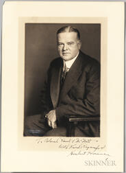 Hoover, Herbert (1874-1964) Signed Photograph.