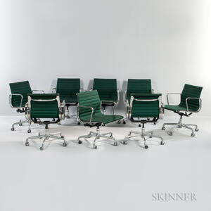 Eight Eames for Herman Miller Aluminum Group Chairs