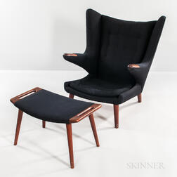 Hans J. Wegner for AP Stolen Papa Bear Chair and Ottoman
