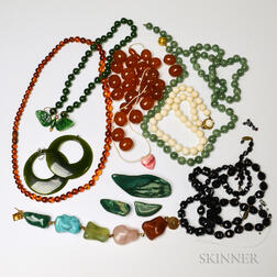 Group of Hardstone Jewelry