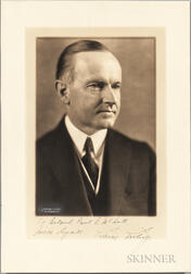 Coolidge, Calvin (1872-1933) Signed Photograph.