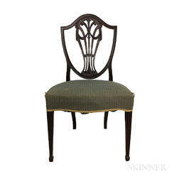 Federal Carved Mahogany Shield-back Side Chair