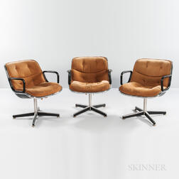 Three Charles Pollack for Knoll Executive Chairs
