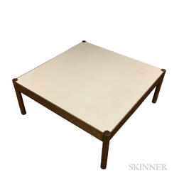 Large Square Low Table with Laminate Top