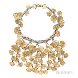 Vintage Ginkgo Leaf Necklace