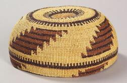 Northern California Polychrome Twined Baskerty Hat
