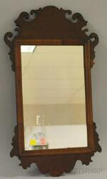 Queen Anne Mahogany Veneer Mirror