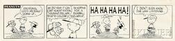 Charles Schulz (American, 1922-2000)      Educational Costs Are Really Going Up  , A Peanuts Cartoon