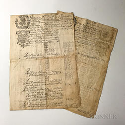 Part of 1687 Accounting Ledger
