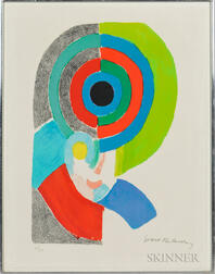 Sonia Delaunay-Terk (Ukrainian, 1885-1979)      Composition with Circles in Red, Green, and Blue