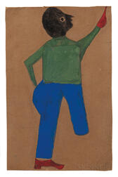 Bill Traylor (Alabama, 1854-1947)      Untitled Figure