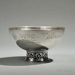 Whiting Sterling Silver Seawanhaka Corinthian Yacht Club Trophy Bowl
