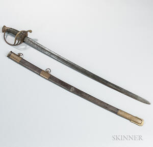 Leech and Rigdon Staff and Field Officer's Sword Identified to Lieutenant Walter C. Corley, 47th Georgia Infantry Regiment