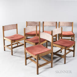 Seven Contract Interiors Oak Side Chairs