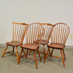 Pair of Fan-back Windsor Chairs and a Pair of Bow-back Windsor Chairs