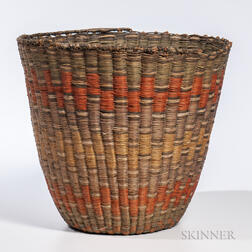 Southwest Coiled Hopi Peach Basket