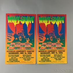 Grateful Dead Wavy Gravy/Goth Birthday Benefit   Poster