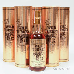 Wild Turkey 12 Years Old, 5 750ml bottles (ot)