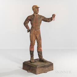 Cast Iron Painted Lawn Jockey