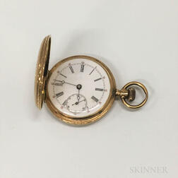 14kt Gold Hunter-case Pocket Watch