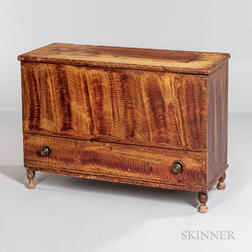 Small Paint-decorated Pine Chest-over-drawer