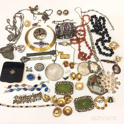 Group of Sterling Silver and Costume Jewelry