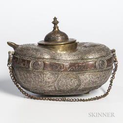 Brass Sufi Kashkul Begging Bowl