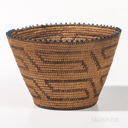 Southwest Polychrome Basket with Beads