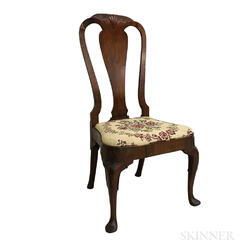 George II Mahogany Veneer Side Chair