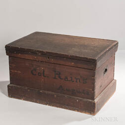 Confederate Colonel George Washington Rain's Chest