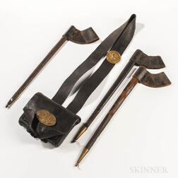 Civil War-era Cartridge Box, Strap, and Three Bayonet Scabbards