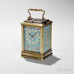 Champleve French Hour-repeating Carriage Clock