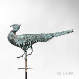 Sheet Copper Ring-necked Pheasant Weathervane